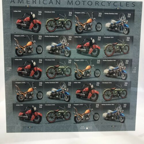 Primary image for American Motorcycles Collectible Stamp Sheet Scott 4085-88, Framed