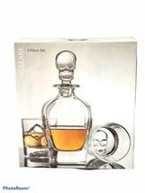 Godinger 3 Piece Skullary Set Decanter & Double Old Fashioned Glasses 10Oz - $57.42