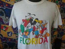 Vintage 80's Walt Disney World Florida Mickey & Minnie Mouse T Shirt L  - $39.59