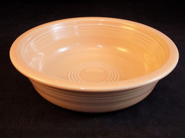 Fiestaware Bowl Medium Cereal Bowl 7 Inches Across Peach Laughlin Pottery - $21.77