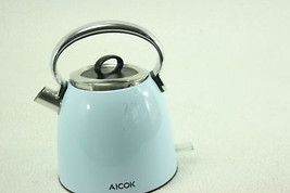 Aicok Electric Tea Kettle 1.7-Liter Brushed Stainless Steel Kettle Blue ... - €39,02 EUR