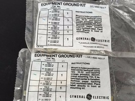LOT OF 2 NEW GENERAL ELECTRIC GEJ-4660 EQUIPMENT GROUND KITS GEJ4660 REV. F