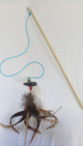 Smart Cat toy Interactive cat teaser wand  with feathers - $19.99