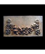 Hanging Flowers  Decorative Wall Relief Sculpture Plaque - $64.35