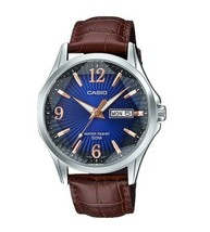 Casio MTP-E120LY-2A Men's Standard Analog Leather Band Watch  - $59.00