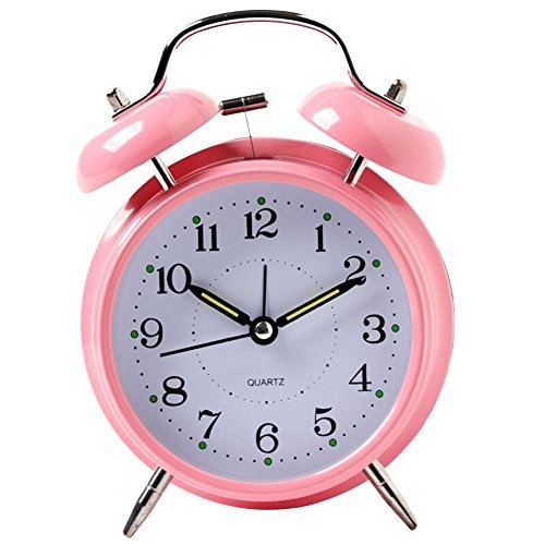 George Jimmy Simple Alarm Clock Metal Wake Up Alarm Clocks with Night-Light 3''- - $19.73