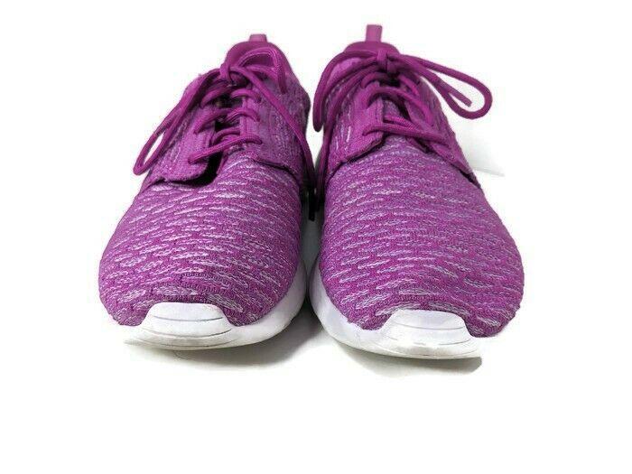 Nike Rosherun Fly Knit Womens Size 8.5 Pink White Fuchsia Flash Running Sneaker