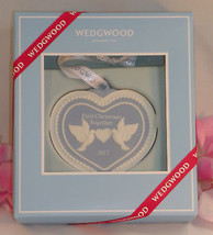 New Wedgwood Blue Jaspeware 1ST First Christmas Together Ornament 2017 H... - $42.99