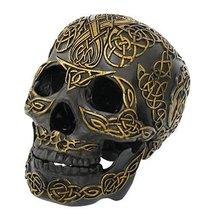 Pacific Giftware Celtic Skull Statu, Black - $23.99