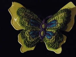 Vintage Butterfly Brooch Green Tone Costume Fashion Jewelry Pin - $9.66
