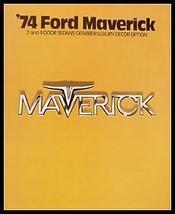 1974 Ford Maverick Deluxe Dealer Car Sales Brochure, Grabber Original - $8.06