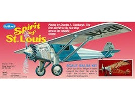 Guillow's Spirit of St. Louis Flying Scale Balsa Wood Model Airplane Kit... - $47.52