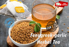 Ceylon pure organic Fenugreek-garlic Tea bags Herbal Drink reducing cholesterol - $5.66+