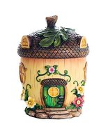 Miniature Fairy Garden of Enchantment Fairy Acorn Cottage Figurine Displ... - $24.70