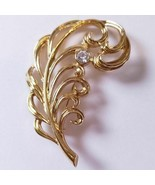 Avon Precious Plume Goldtone Pin Brooch Vintage 1990 Original Box New Ol... - $16.47