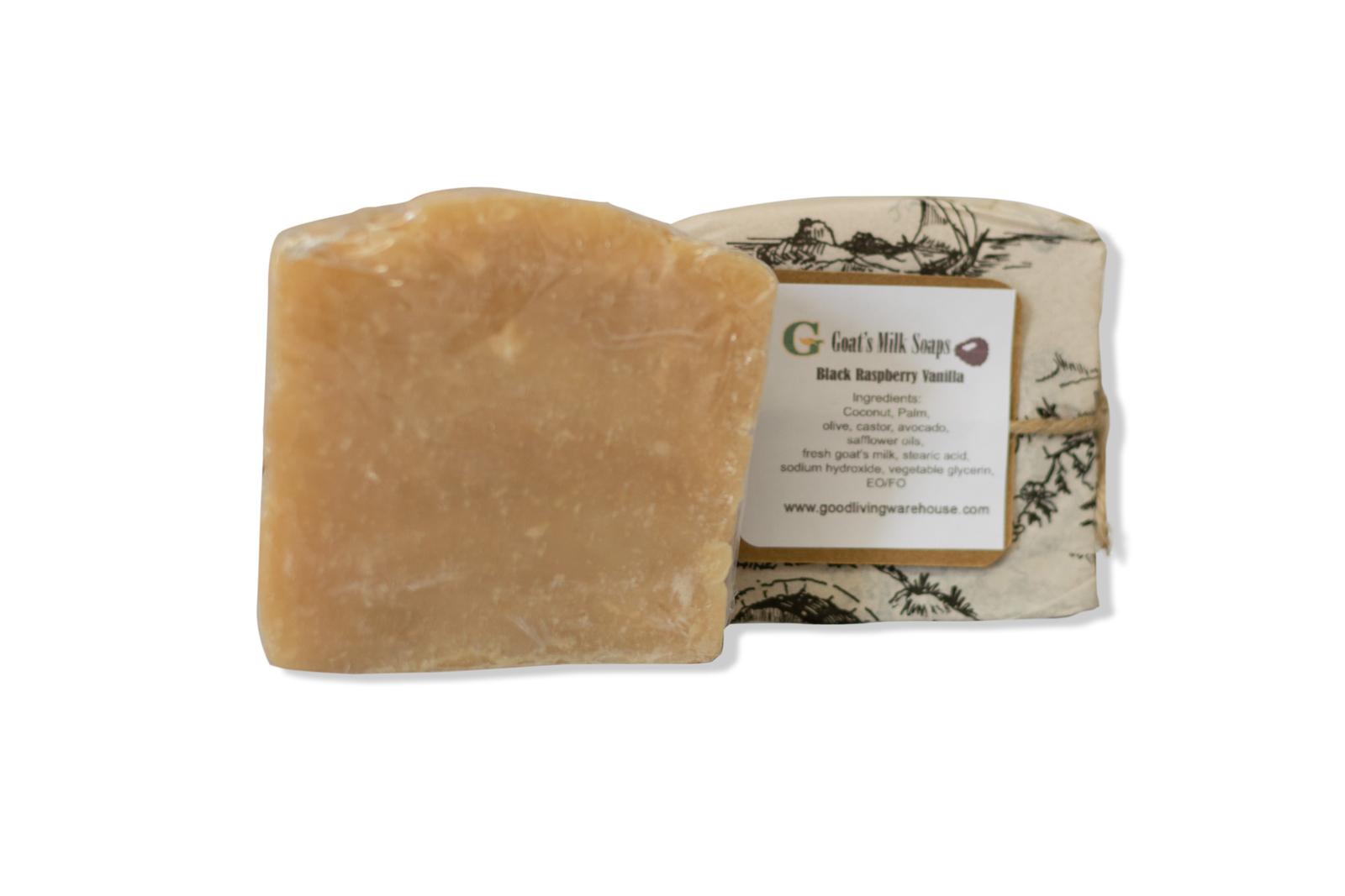Handcrafted Natural Goat's Milk Soap - Black Raspberry Vanilla - Large (5 oz)