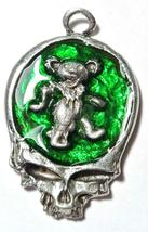 Dancing Bear Skull Fine Pewter Pendant Approx. 1 5/8 inches tall image 4