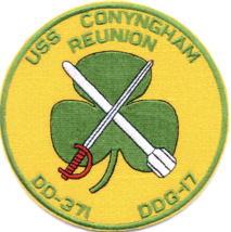 "5"" NAVY USS DDG-371 CONYINGHAM EMBROIDERED PATCH - $23.74"