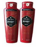 Men's lot of 2 Old Spice body wash 21 oz Swagger Scent Confidence red co... - $18.66