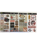 "Lot of 4 Glitz Design Cardstock Stickers 6"" x 12"" • Titles & Vintage • N... - $11.83"