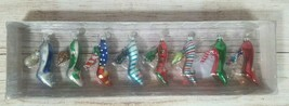 Vintage Department 56 Mini Glass Ornaments 8 Decorative High Heels Shoes Holiday - $27.15