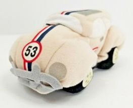 Disney Store Plush Beanie HERBIE The LOVE BUG 53 Beetle Car Disney Store Tag image 3