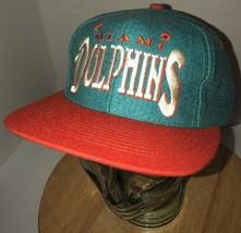 Vintage MIAMI DOLPHINS 80s 90s  Prosona by Universal Hat Cap Snapback Te... - $32.85