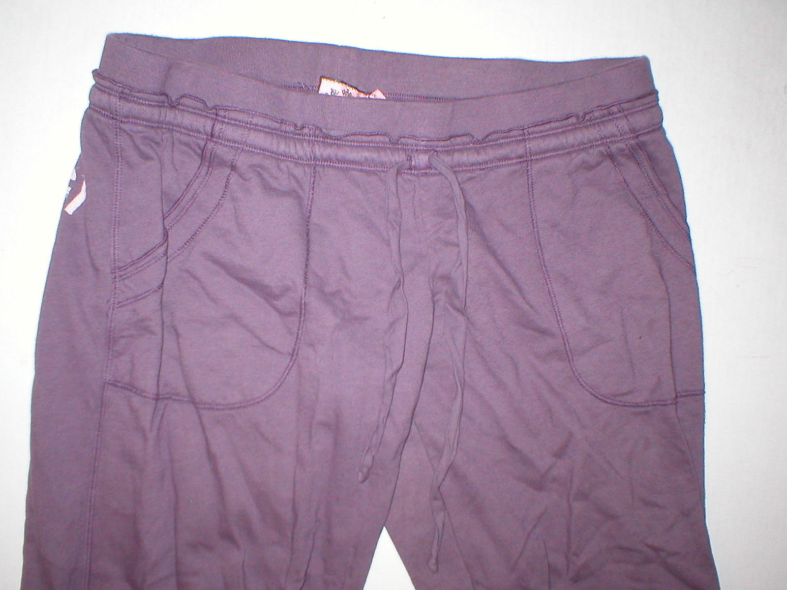 EUC Womens Large Juicy Couture Pants Purple L Pockets Skull Wings Logo 32 inseam image 4