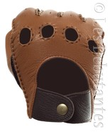 MEN'S BROWN HAND STITCHED LEATHER DRIVING GLOVES - $21.99