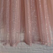 Rose Sparkle Skirt Long Tutu Glitter Skirt Rose Gold Sequin Skirt Floor Length image 8