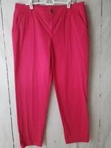 Liz Claiborne Women's Pink Ankle Pants Bottoms Flat Front Size Career We... - $6.93