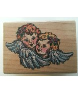 Stampendous Winged Cherubs Angel Faces Valentines Day Card Craft Rubber ... - $7.64
