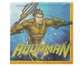 Aquaman DC Superhero Justice League Kids Birthday Party Paper Luncheon Napkins - $8.17