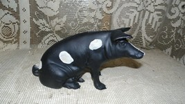 VINTAGE CAST IRON PIG BANK DOOR STOP - $64.30
