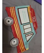 8x New Emily Dumas Taco Truck Plate Ceramic Transpac Multicolored Cute!!. - $99.00