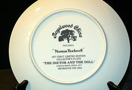 """1977 """"The Doctor and the Doll"""" Norman Rockwell Plate with Box ( Royalwood China) image 5"""