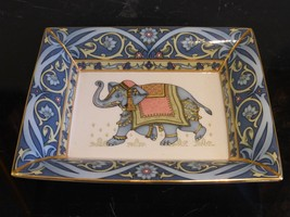 "WEDGWOOD BLUE ELEPHANT DISH TRAY MADE IN ENGLAND 7 5/8"" X 6 1/4"" - $75.00"
