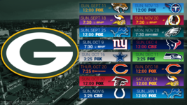 Green Bay 2017 schedule Poster 24 X 36 inch  - $18.99