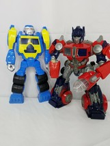 "Lot of 2 12""Transformers Optimus Prime Rescue Bot Action Figures Hasbro ... - $19.79"