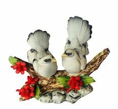 Capodimonte Turtle Doves Bird flowers floral Savastano Gricci Italy figurine vtg - $173.25