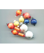 10 wood bead pendants drops mixed lot charms wooden ball tube shapes jew... - $2.50