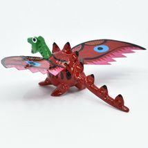 Handmade Alebrijes Oaxacan Wood Carved Folk Art Winged Dragon Bobble Head Figure image 3