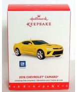 2016 Chevrolet Camaro Hallmark Ornament General Motors Sports Car Yellow... - $24.90