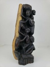 "African Hand Carved Wooden Sculpture Tree of Life Makonde  Wood 11"" Tall - $42.06"