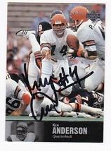KEN ANDERSON AUTOGRAPHED CARD 1997 UPPER DECK CINCINNATI BENGALS - $4.98