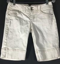 Women's Jeans Shorts Juniors Size 9 White Ivory Cream nobo No Boundaries - $11.87