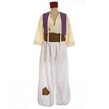 Aladdin Costume Aladdin Character Cosplay Outfit Men Halloween Suit Custom - $88.96