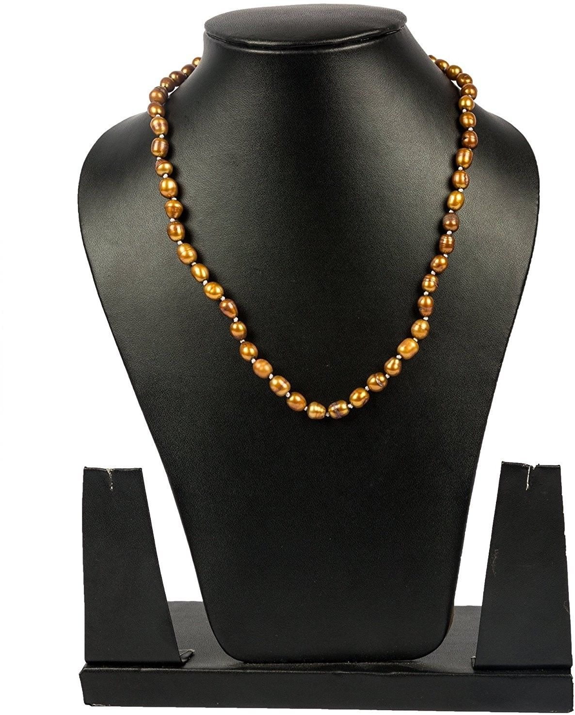 Primary image for Yellow Pearl Strand 16 Inches Long, Natural And Genuine Gemstone Fashion By