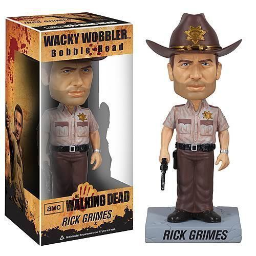 The Walking Dead Rick Grimes Wacky Wobbler Bobblehead BY FUNKO NIB AMC - $22.27