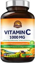 Vitamin C Complex 1000mg Immune Support, Collagen Booster Powerful Antioxidant - $13.90